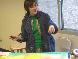 Betsy Dillard Stroud teaching a workshop for Chelsea Painters