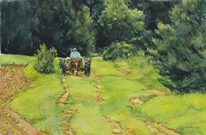 June Mower | Watercolor | Lois Lovejoy