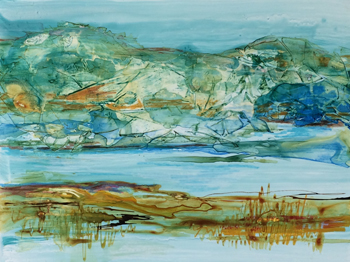 Mountain View | Mixed Media | Janice Stevens Botsford