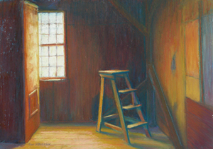 'Light Into Dark', Pastel, 9 x 13