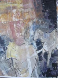 """Two Wandering"", Watercolor, 29 x 24"