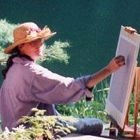 Teresa Freed painting en plein air