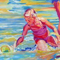 Kneeling in the Surf | Bill Knudstrup