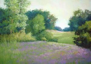 """""""Rolling Hills"""", Pastel by Carolyn Weins"""