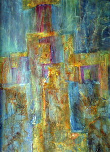 'The Washing of time', Mixed Media by sandy Knapp