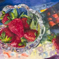 Strawberries by Jean Canavan