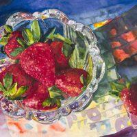 Strawberries by Jean Canavan