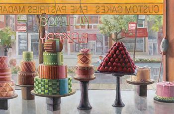 """'Alliance Bakery', acrylic, 24 x 36"""" by Marty Walker"""