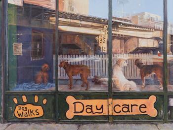 """'Window Dressing', Acrylic, 30 x 40"""" by Marty Walker"""