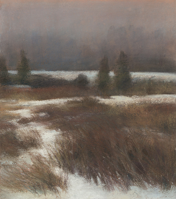 'Winter Grass' pastel by Lois Lovejoy