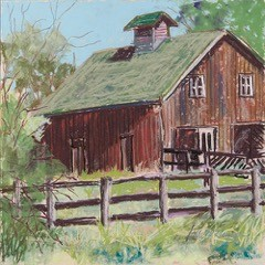 Cross Village Barn by Linda Klenczar