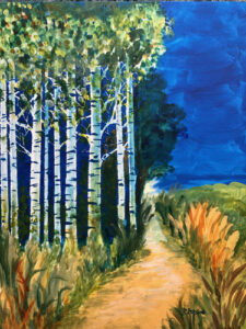 Walk by the Birches by Janice Botsford
