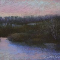 Winter Sunset | Pastel | Lois Lovejoy