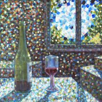 Full Moon & Mulberry Wine | Acrylic | Jim Rehlin