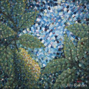 Pear Tree & Full Moon | Acrylic | Jim Rehlin