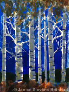 Birches | Acrylic | Janice Botsford