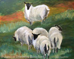 Watching Over Ewes | Acrylic | Janice Botsford