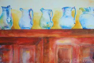 Lineup 5 Pitchers | Watercolor | Jean Canavan