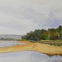 Lake Huron Sand Bar | Watercolor | James Clark