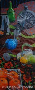 "I Love Orange by Susan Clinthorne   Acrylic   40 x 16"""