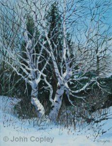 Dancers in the Woods | Oil | 14x11 | John Copley