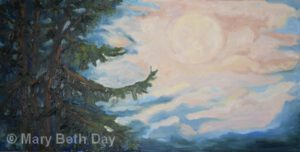 UP Moon | Oil | Mary Beth Day