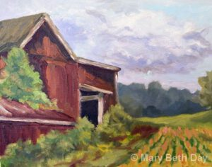 Watching the Crops Grow   Oil   Mary Beth Day
