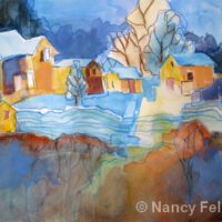 The Blue Lines | Watercolor | Nancy Feldkamp