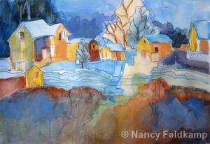 The Blue Lines | Watercolor | Nancy Feldkamp
