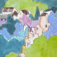 Cascading Homes | Watercolor | Nancy Feldkamp