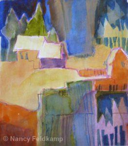 Sun Rays | Watercolor | Nancy Feldkamp