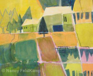 Tree Farm | Watercolor | Nancy Feldkamp