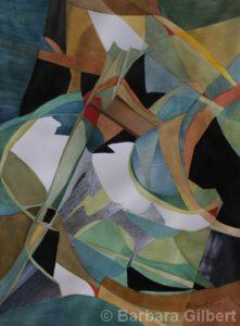 Elation | Watercolor & Collage | 30x22 | Barbara Gilbert