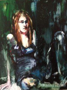 Waiting | Watercolor | Kathy Hiner