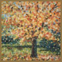 Autumn Maple & Deer by Jim Rehlin