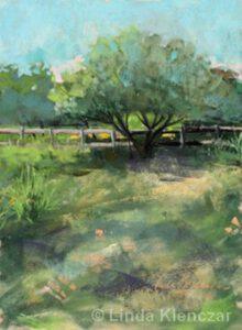 Under the Apple Tree | Pastel | Linda Klenczar