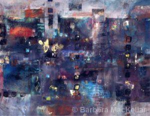 "City Lights | Acrylic | 24x30"" | Barbara MacKellar"