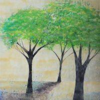3 Benny Trees | Encaustic | Gwyn McKay