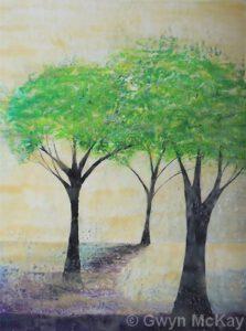 3 Benny Trees   Encaustic   Gwyn McKay