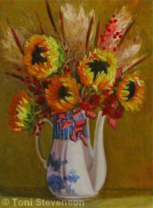 Sunflowers & Grasses | Oil | Toni Stevenson