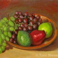 Pears & Grapes | Oil | Toni Stevenson