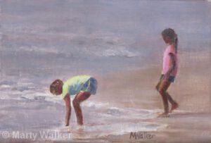 Girls in the Surf | Oil | Marty Walker