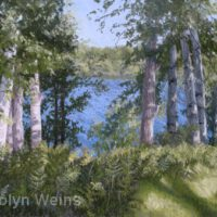 Birches Greet the Morning | Pastel | Carolyn Weins