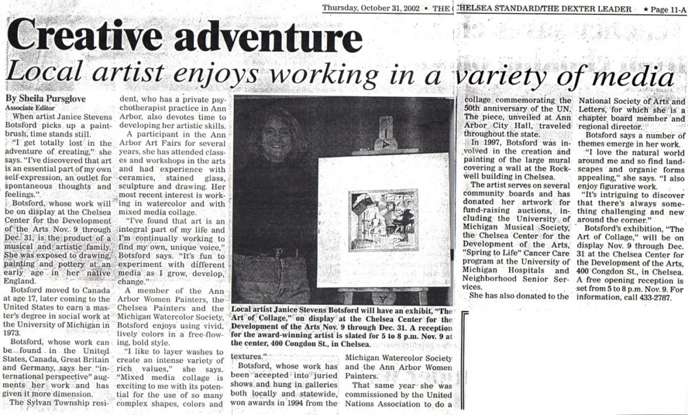 Creative Adventure | Janice Botsford