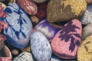 Stones and Shadows | Colored Pencil | Dee Overly