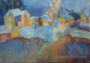 "The Blue Lines | 15 x 22"" | Nancy Feldkamp"