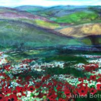 A Galaxy of Flowers in the Meadow | 24 x 30"
