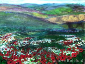 """A Galaxy of Flowers in the Meadow 