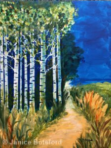 Walk by the Birches | 30 x 24"