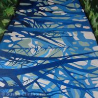 "Choose a Random Path | Acrylic | 20 x 20"" | $350 | Susan Clinthorne"